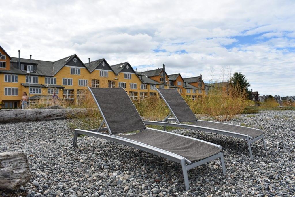 Semiahmoo Lounge Chairs On Beach 0149
