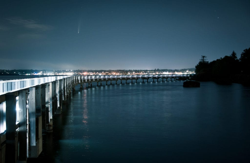 David Veatch Comet Neowise Taylor Dock Bellingham Washington Whatcom County