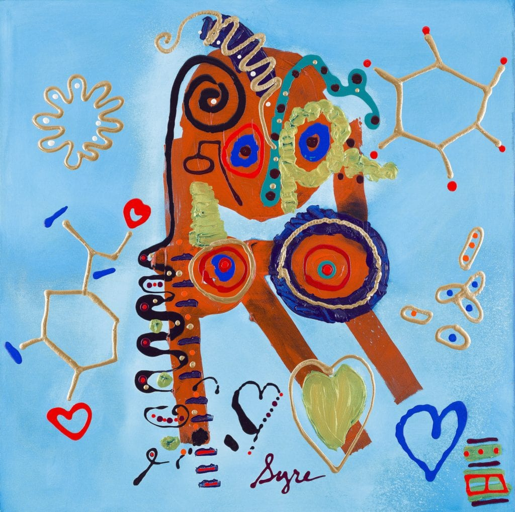 George Floyd #18 Pandemic Personality, 2020, Acrylic On Canvas, 48x48 In