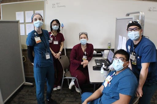 Nursing Students From Bellingham Technical College And Whatcom Community College Staffed The Vaccination Stations At The Pilot Clinic Event.